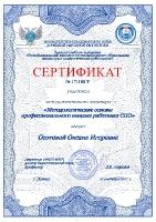 Сертификат методологического семинара(Осотова О.И.)