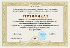 Сертификат (Рудичев А.В.)